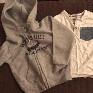 Watch Hill RI toddler zip-up and Gap Shirt